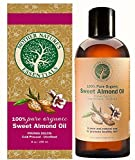 Sweet Almond Oil 100% Organic Highest Quality, Cold Pressed Hexane Free from Spain. Non-GMO. Perfect Under-Eye Treatment, Fighting Dark Circles, Full Body Massage Oil. The Best Carrier Oil.