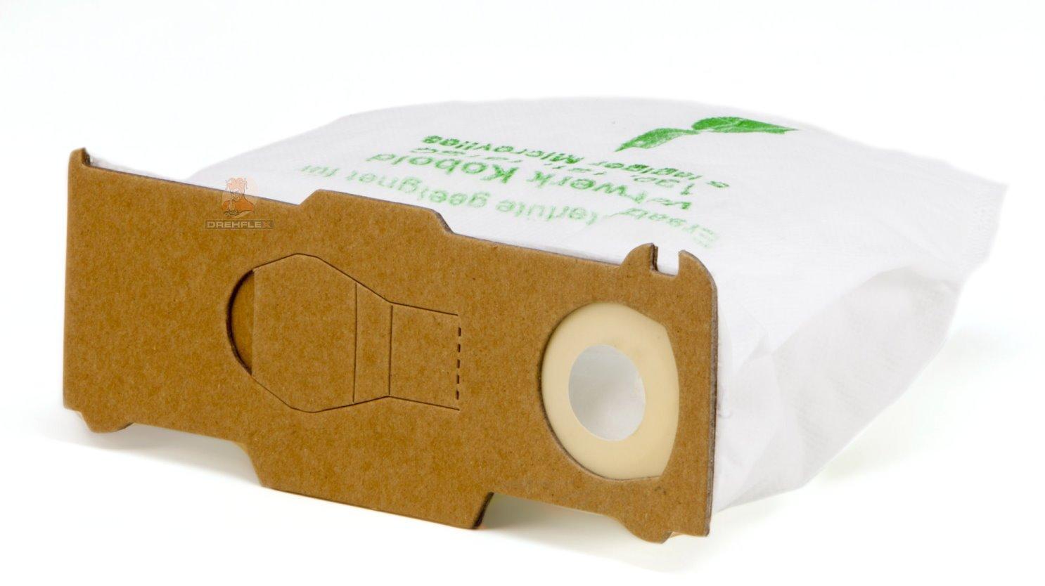 DREHFLEX®–6Sacchetti per aspirapolvere in tessuto non tessuto adatto per Vorwerk–folletto Vk 130/131/131sc/VK130/VK131–Drehflex® SB811