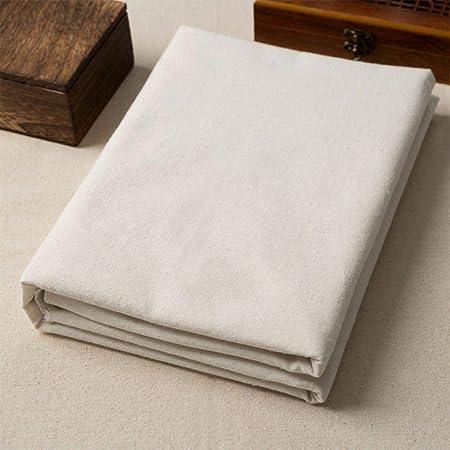 RIDS 50 * 160 Cm Tela de Lino de algodón orgánico Tela de Lino Gruesa de Color sólido para Mantel de Cortina DIY Material de Costura Artesanal a Mano, Liso: Amazon.es: Hogar