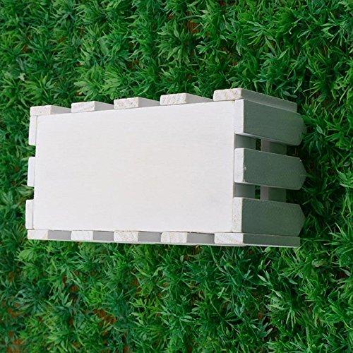 Kicode Rosepoem Garden Decking Flower Plant Pot House Decor Mini Fence Floral Device Wooden Window White