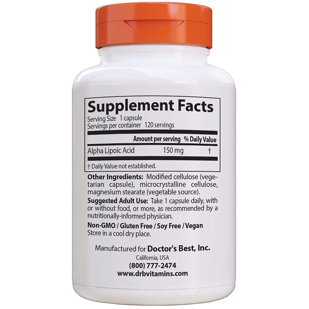 Doctors Best Alpha Lipoic Acid, 150mg - 120 vcaps 120 ...
