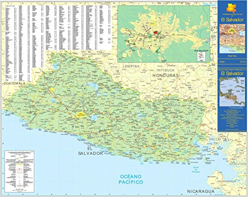 - Gifts Delight Laminated 30x24 Poster: Large Detailed Road map of El Salvador. El Salvador Large Detailed Road mapMaps