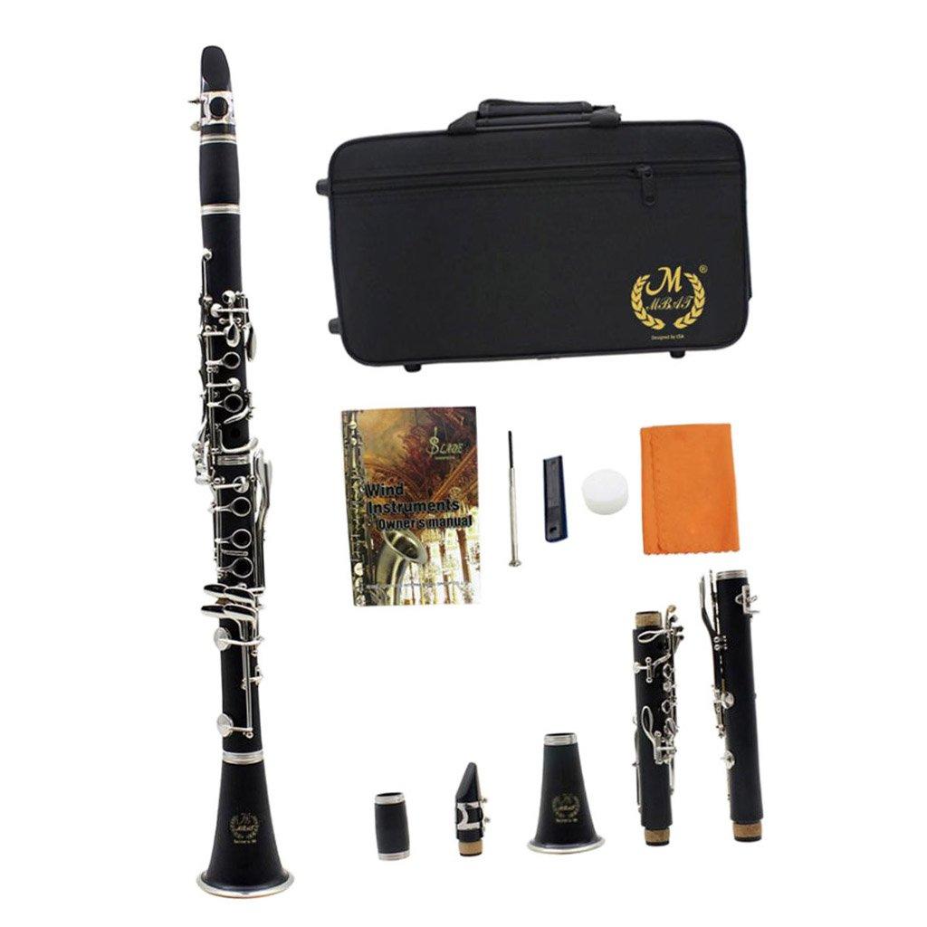 kesoto 1 Set Student Beginner Black B Flat Clarinet Wind Instruemnt With Case by kesoto