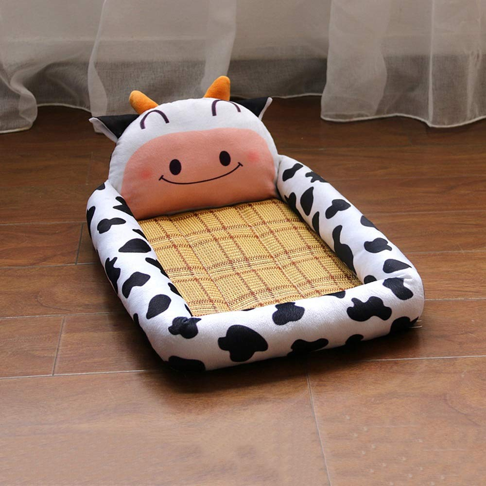 3 YQQ Cat Nest Kennel Dog Bed Pet Supplies Pet Sleeping Pad Soft 76  61  7CM (color   3)