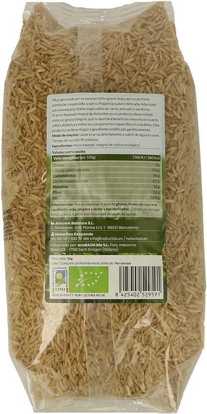 Arroz Basmati integral de agricultura ecológica 1kg: Amazon ...