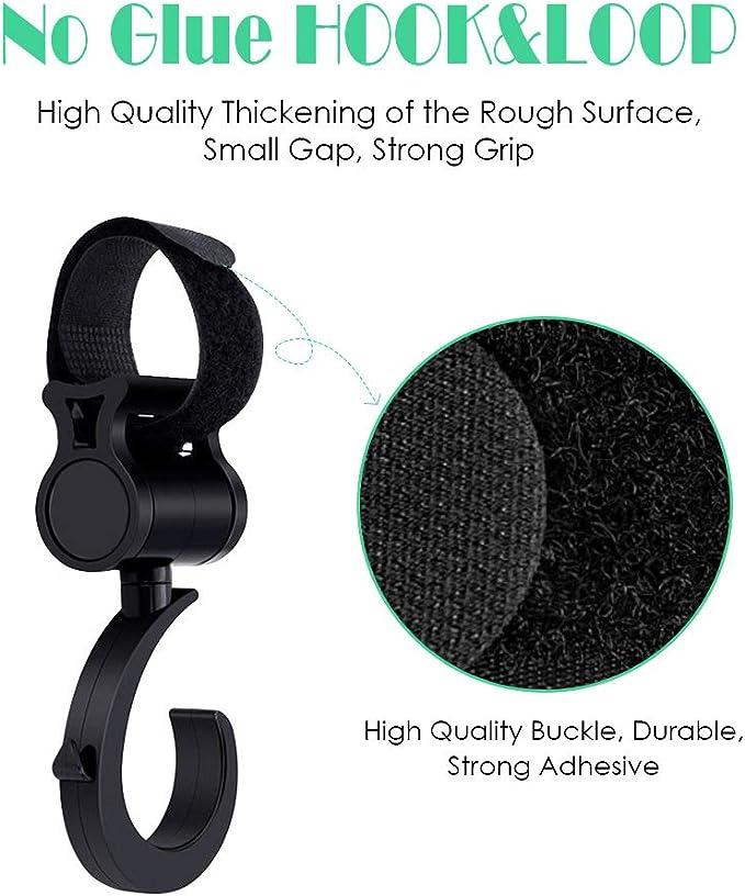 Universal Accessoire Poussette pour B/éb/é Mousquetons Stroller Hooks Sundell 2 Crochets de Poussette /& 4 Poussette Pinces Clip