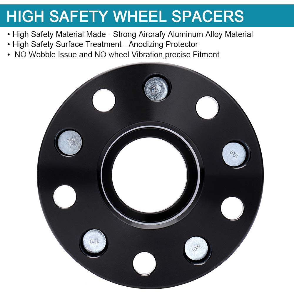 Dodge Journey IRONTEK 1.5in Hubcentric 5x5 to 5x5 Wheel Spacers Adapters Compatible with Jeep 99-10 Grand Cherokee WJ//WK 07-18 Wrangler JK//JKU 06-10 Commander XK 71.5mm Bore,1//2x20 Studs