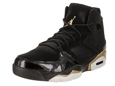 0e9c4ebab5d2 Jordan Mens FLTCLB 91 Black Metallic Gold White Size 9
