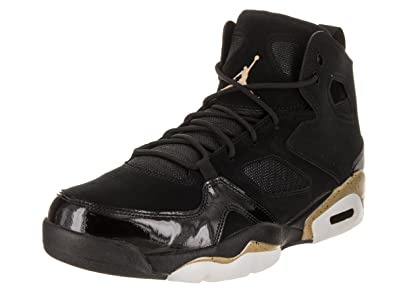 c4ff37b6d316 Jordan Mens FLTCLB 91 Black Metallic Gold White Size 9