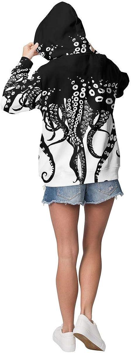 Women /& Girls Long Sleeves Hoodies Pullover Hooded Sweatshirts Slim Fit Outwear