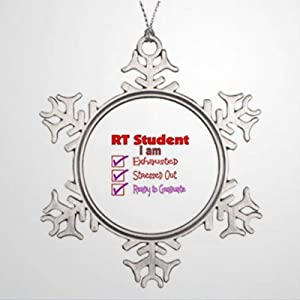 BYRON HOYLE Ornaments Respiratory Therapy Student-Stressed Out! Vintage Christmas Snowflake Ornaments Xmas Decor Wedding Ornament Holiday Present