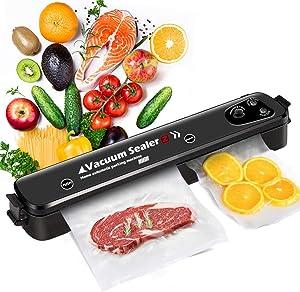 Food Saver Vacuum Sealer Machine, MOCHUAN Vacuum Sealer Machine with 15 Sealing Bags, One-Touch Automatic Vacuum Sealing Machine for Dry And Moist Food Fresh Preservation