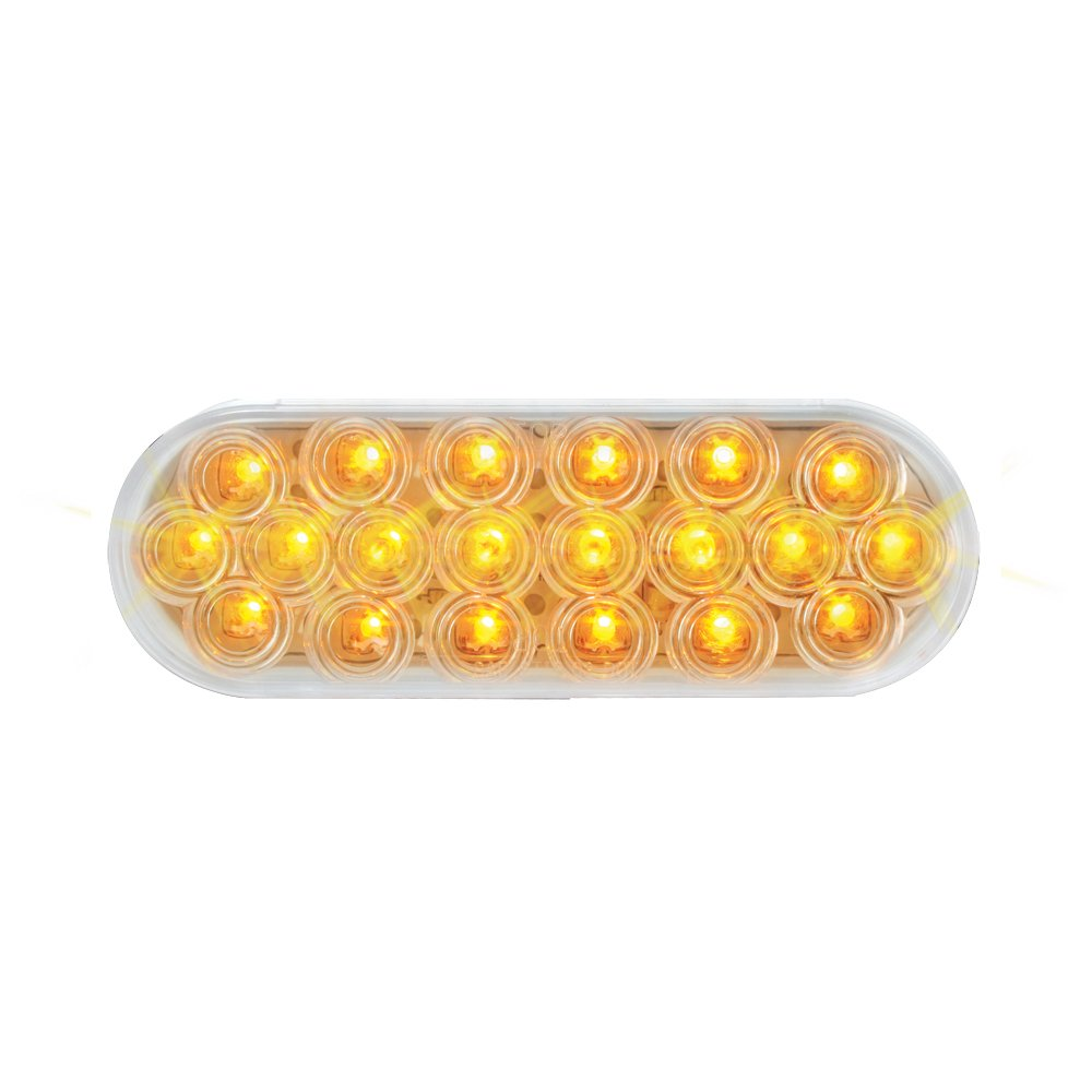 Grand General 87728 Amber Oval Fleet 20-LED Park/Turn Sealed Light with Clear Lens
