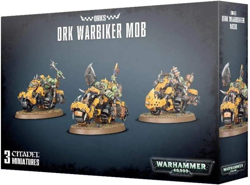 WAEHAMMER 40,000 Ork Warbiker Mob SW