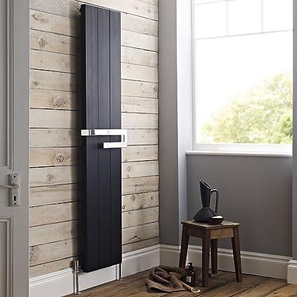 Hudson Reed HCL001- Radiador Calentador Decorativo de Diseño Vertical Con Riel Toallero Porta Toallas -