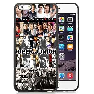 Unique Iphone 6 Plus Case Design with Super Junior iphone 6 Plus 5.5 Inch Black TPU Case
