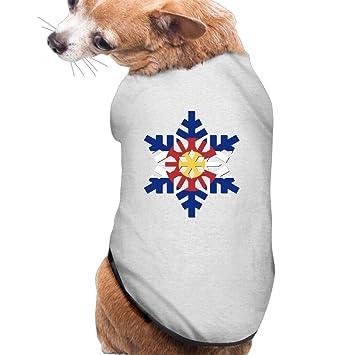 BESINEAWSfAW Colorado Estado bandera copo de nieve perro y gato camiseta camiseta Tank Top chaleco mascota ropa para perros o gatos disfraz: Amazon.es: ...