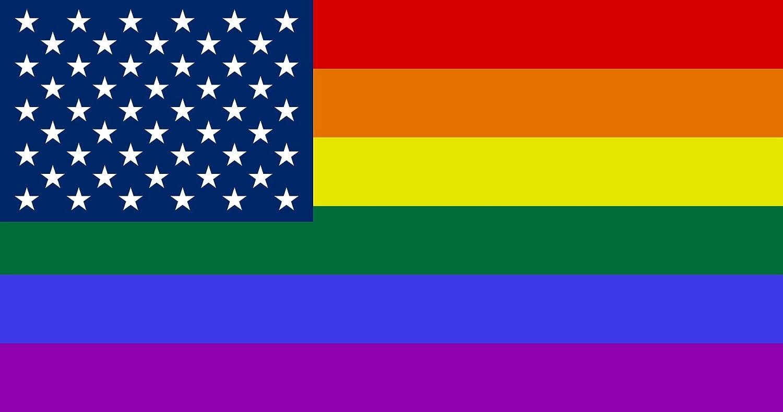 Rogue River Tactical 4 Pack Rainbow Flag Car Decal Bumper Sticker Gay Pride LGBT Gay Lesbian Bisexual Transgender Support (Flag)