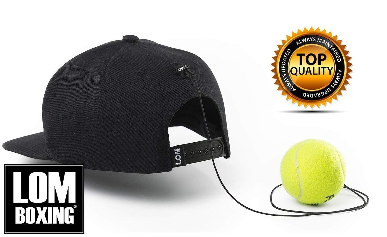 LOM Fight Ball Reflex, Boxing Ball, Boxing Equipment, Trainer for Workout and Fitness, Boxing SnapBack with String and Boxing Tennis Ball for speed punch, Punching Ball for All Ages