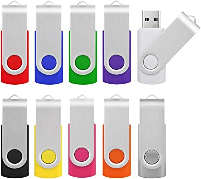 Memorias USB 16GB 2.0, KOOTION Pen Drive USB Pendrive Set 10 Piezas Flash Drive Pen Drives, Pack de 10 Unidades USB Stick Multi-Colores: Amazon.es: Electrónica