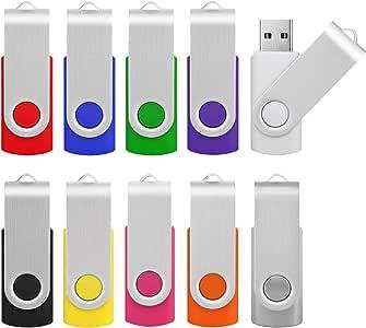 Pendrive 2GB 2.0 10 Unidades, KOOTION Memorias USB Flash Drive USB 2.0 Pen Drives, Pack de 10 Piezas Multi-Colores: Amazon.es: Electrónica