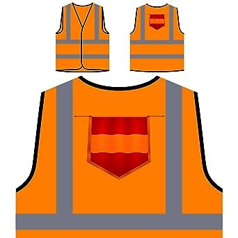 España bandera viaje el mundo Chaqueta de seguridad naranja personalizado de alta visibilidad g471vo: Amazon.es: Industria, empresas y ciencia