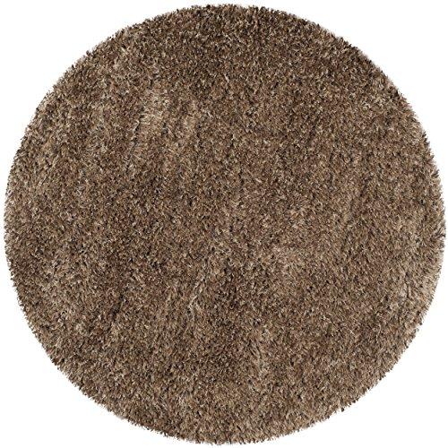(Safavieh Raphsody Shag Collection RSG521-2222 Caramel Polyester Round Area Rug (5'3