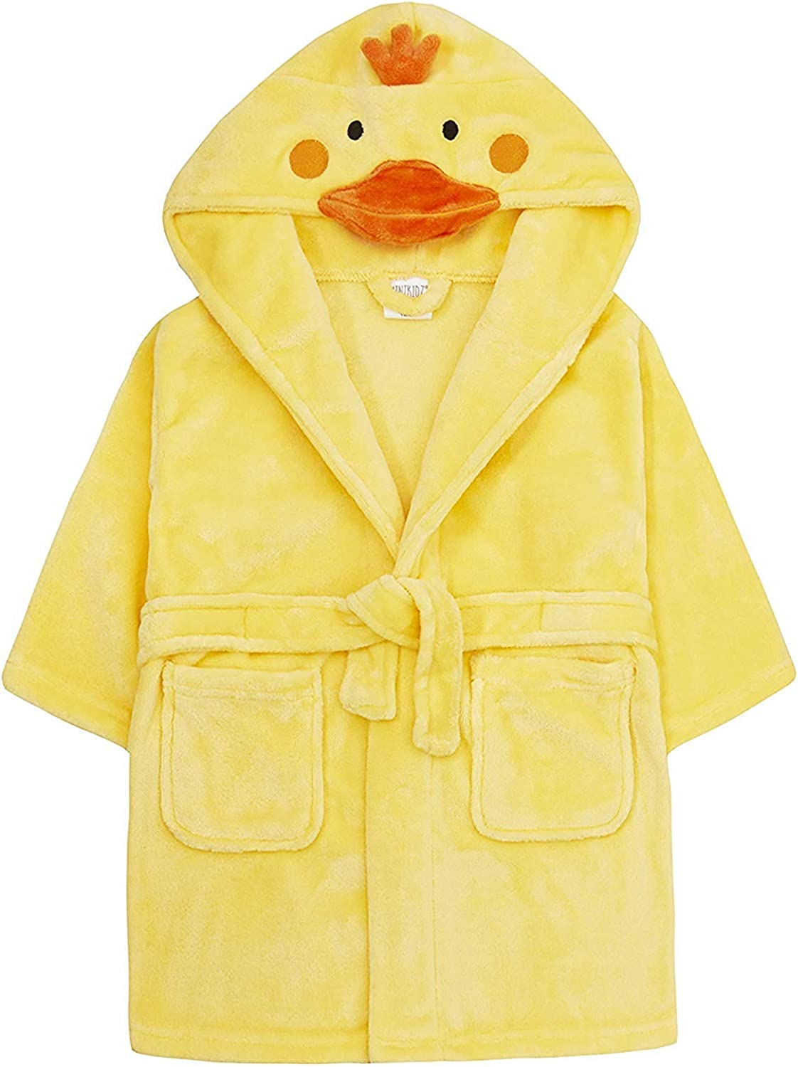 Baby Novelty Dressing Gown Baby Mouse Panda Duck Hooded Face Detail 6-12 12-18 18-24