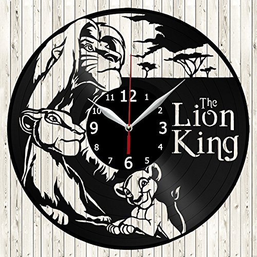Lion King Vinyl Record Wall Clock Decor Handmade Unique Design Original Gift Vinyl Love