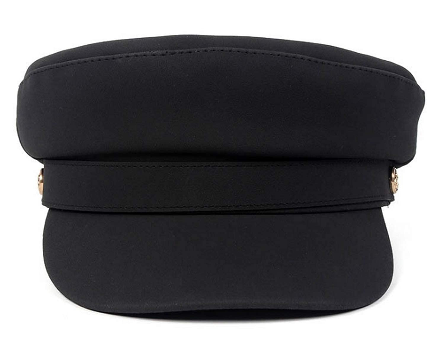 Women PU Yacht Captain Sailor Hat Newsboy Cabbie Baker Boy Peaked Beret Cap