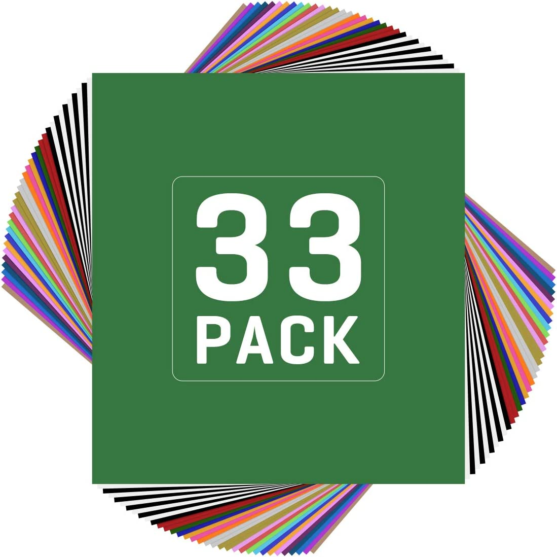 Best For Beginners: JANDPACKAGING HTV 33 pack