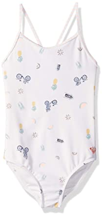 3c02458cd317 Roxy Toddler Girls' Come On Board One Piece Swimsuit, Marshmallow Bike  Ride, ...