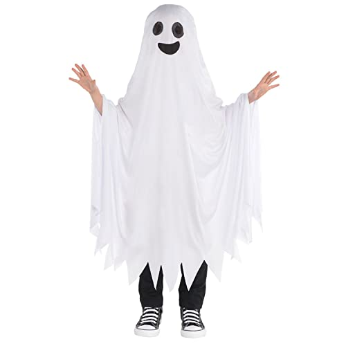 ghost cape childrens fancy dress halloween spooky ghoul boys girls kids costume