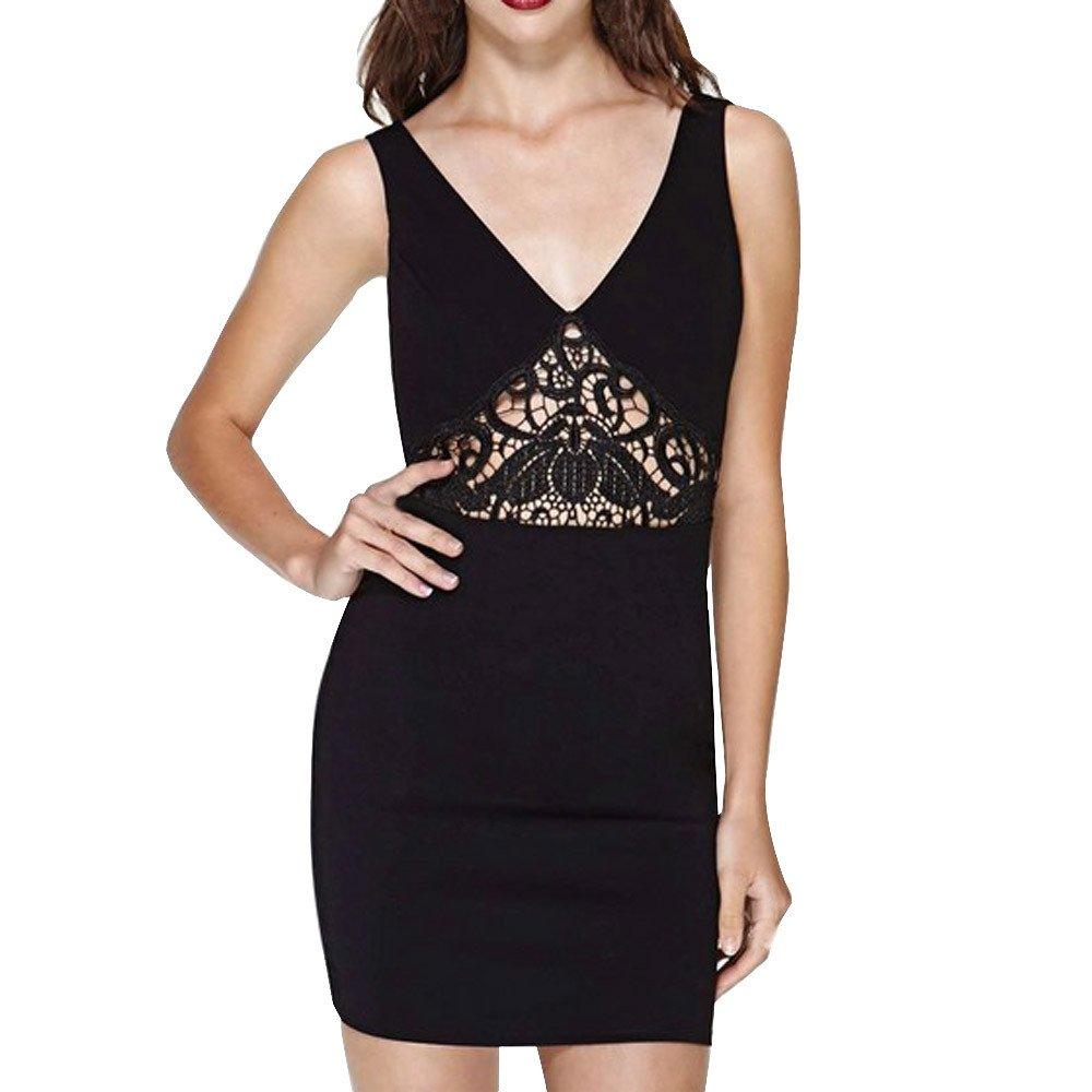new styles f11ce b9543 CICIYONER Frauen Partykleid Damen Sommer Sleeveless Backless ...