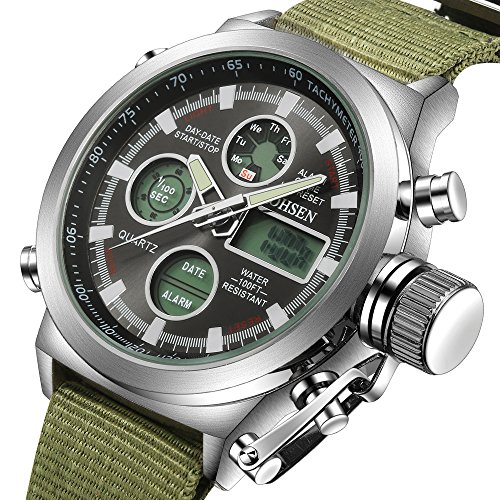 tonnier-men-sports-watches-lcd-digital-multi-function-outdoor-sport-watch-deep-green-canvas-bandblac