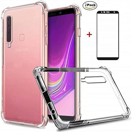 Coque Samsung Galaxy A9 2018 Ttimao Souple Transparente TPU Silicone Conception de Coussin d'air Protection Contre Les Gouttes Anti-Choc Housse ...