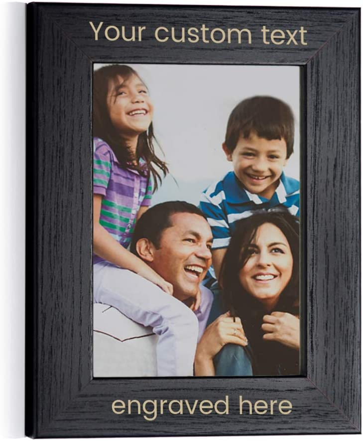 """Lifetime Creations Create Your Own Personalized Picture Frame - Black (5"""" x 7"""" Portrait), Engraved Design Your Own Picture Frame"""
