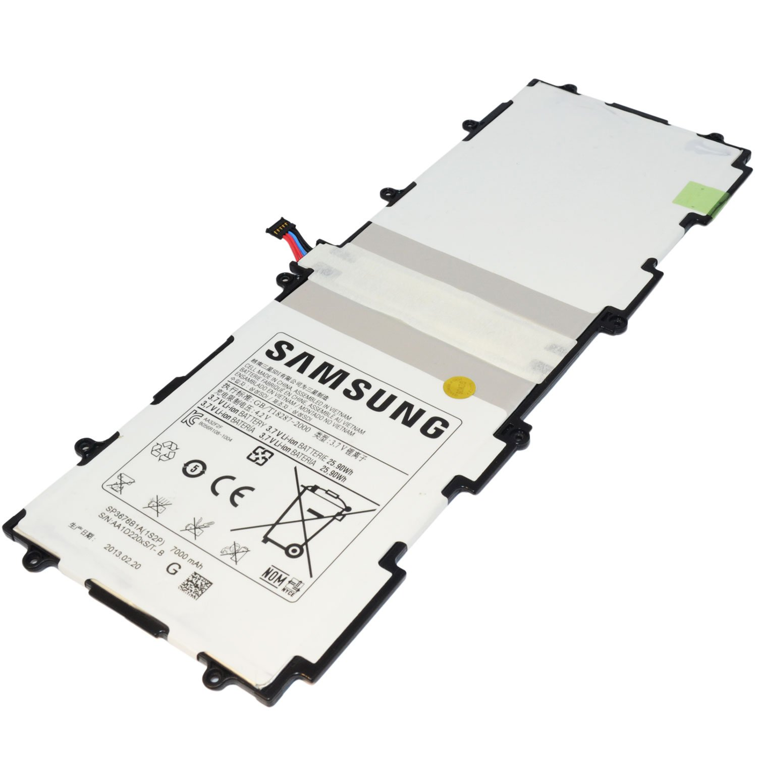 SAMSUNG GALAXY NOTE TAB 2 10.1 7000mAh BATTERIE ORIGINALE TABLET SP3676B1A 1S2P