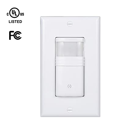Pack of 10) White Motion Sensor Light Switch - NEUTRAL Wire Required ...