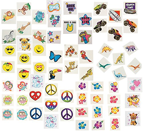 360 pc Tattoo Assortment Boy's & Girl's Party Favors