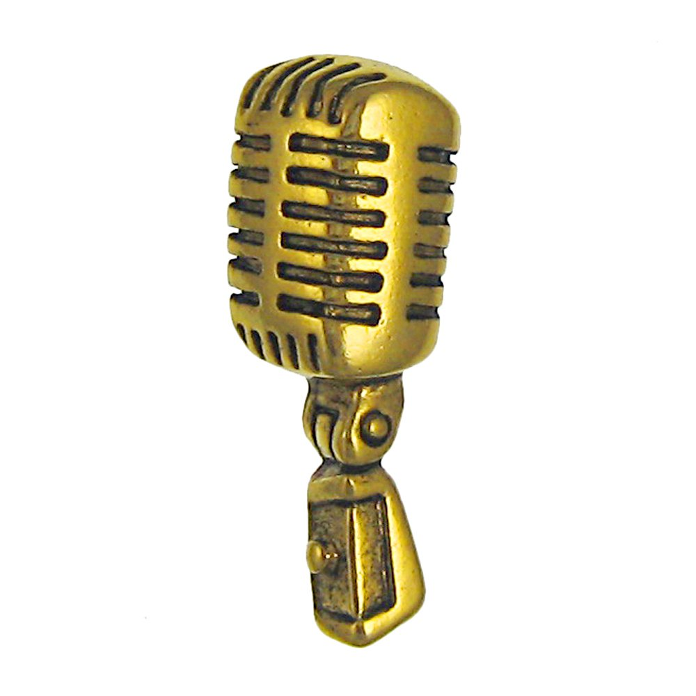 Jim Clift Design Microphone Gold Lapel Pin - 50 Count