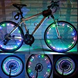 MrPower Super Bright 20-LED Bicycle Bike Rim Lights – Personalized LED Colorful Wheel Lights – Perfect for Safety and Fun – Easy to Install – Blue Green Red Pink White Multicolore Review