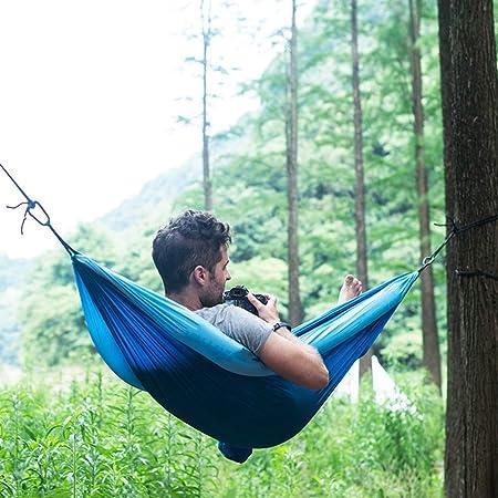 Y/j/f Anti-vuelco Hamacas Jardin, Acampar Al Aire Libre Hamaca De Playa Al Aire Libre De Doble Liberación Permanente Mueble De Camping Puede Soportar 440 Libras Azul Amarillo (Color : Blue): Amazon.es: Hogar
