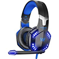 VersionTECH G2000 Pro Gaming Headset for PS4, Xbox One, Gaming Headphones with Mic, Stereo Bass Surround, Noise Reduction, LED Lights for Laptop, Mac, PC, Nintendo Switch Games