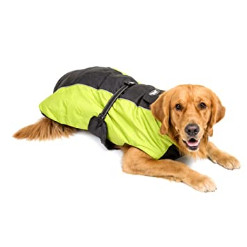 Jannyshop abrigo para perro grande chaqueta impermeable para perro Poncho de lluvia de exteriores con cinturón