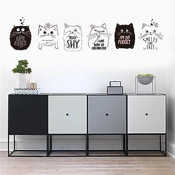 Acebaby Pegatina De Pared Vinilo Adhesivo Decorativo Para Cuartos Dormitoriococina Dormitorio Stickers Decoracion Pared Elegante Y Hermoso Gato De