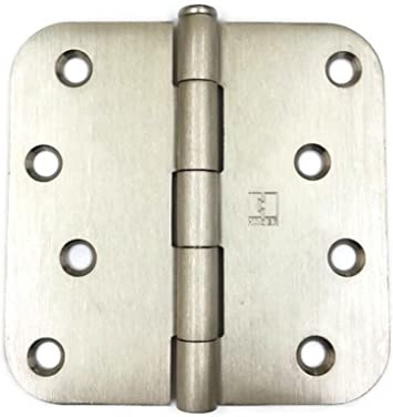 "4/"" Satin nickel Door Hinge w//screws 5//8 radius US15"