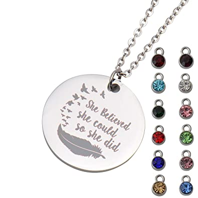 amazon com a missing dog encouraging words necklace letter pendant