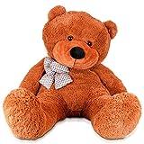 Gund huge Philbin Cream Teddy bear Cuddly Soft Plush Stuffed giant teddy bear Toy Doll (Deep brown, 120CM)
