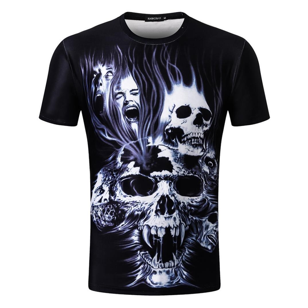 Tee Shirts hombre, Sonnena cultura de calle cráneo 3d impresión T ...
